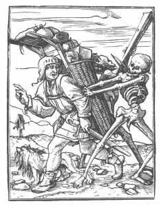 "Hans Holbein, woodcut from the ""Dance of Death"" series (1549)"